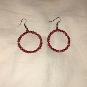 dark orange hoop earrings
